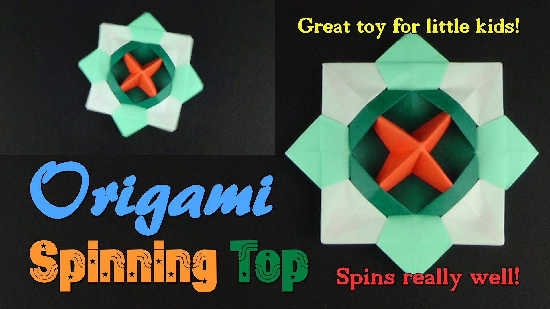 How to Make an Origami Spinning Top! - Origami Toys ... - photo#25
