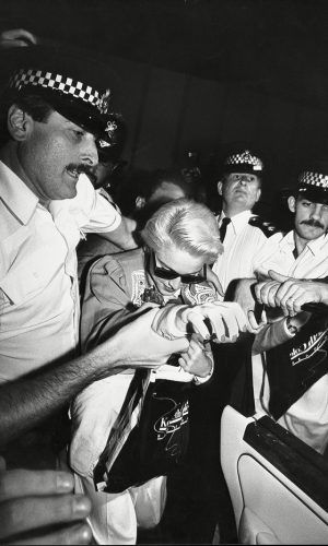 Madonna Causes A Frenzy As She Arrives At Heathrow, 1987
