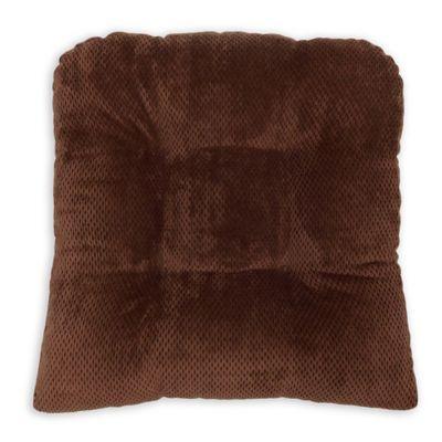 2 Piece Chocolate Arlee Delano Memory Foam Chair Pad Set of 2