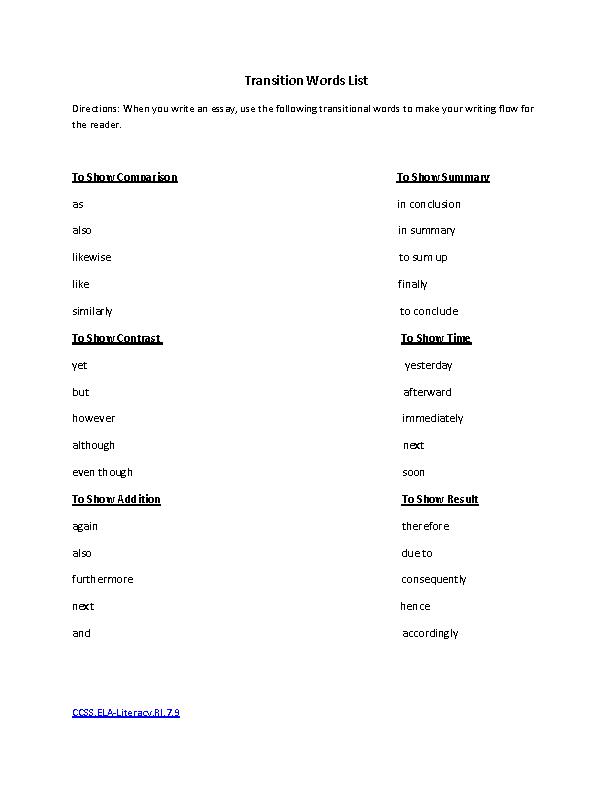 Common Core Worksheet - L.1.5 | Have Fun Teaching
