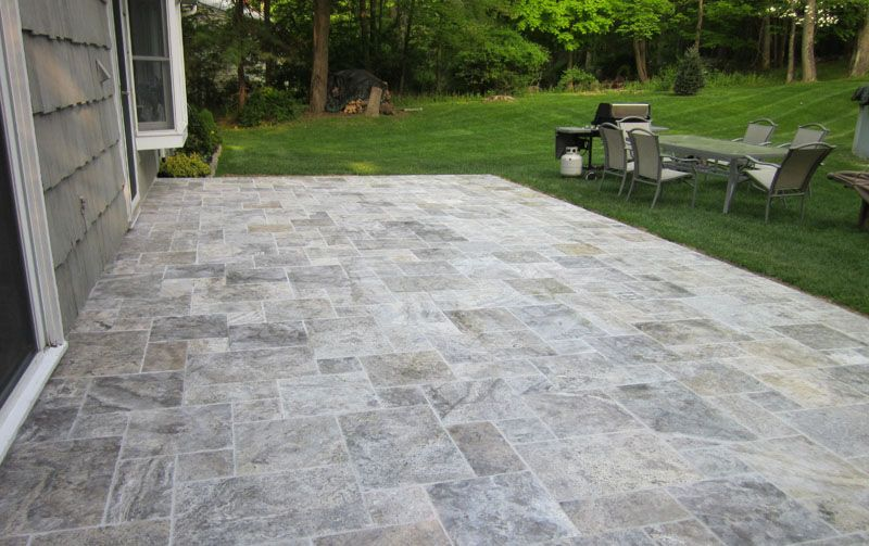 Pool Patio With Pavers | Pattern Pavers | Travertine Pavers | Hardscape  Pool Decking And Patio