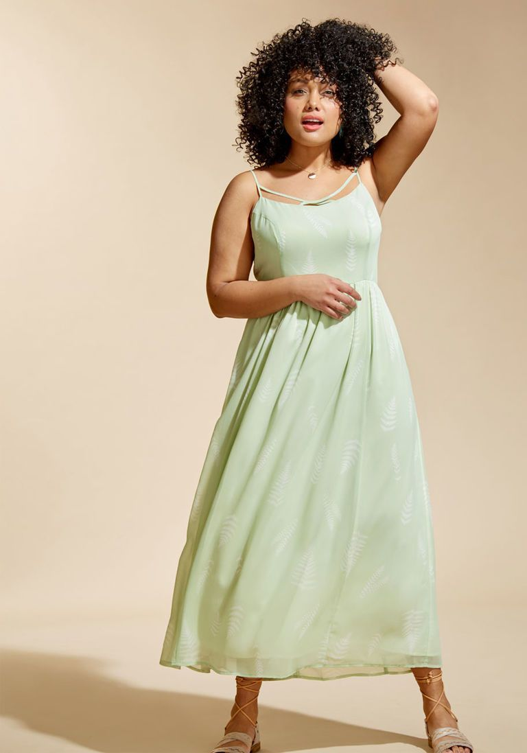 Envision the mission maxi dress in mint in xl spaghetti by
