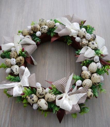 Uroczy Wianek Wielkanocny 5158280032 Oficjalne Archiwum Allegro Easter Wreaths Easter Decorations Christmas Wreaths