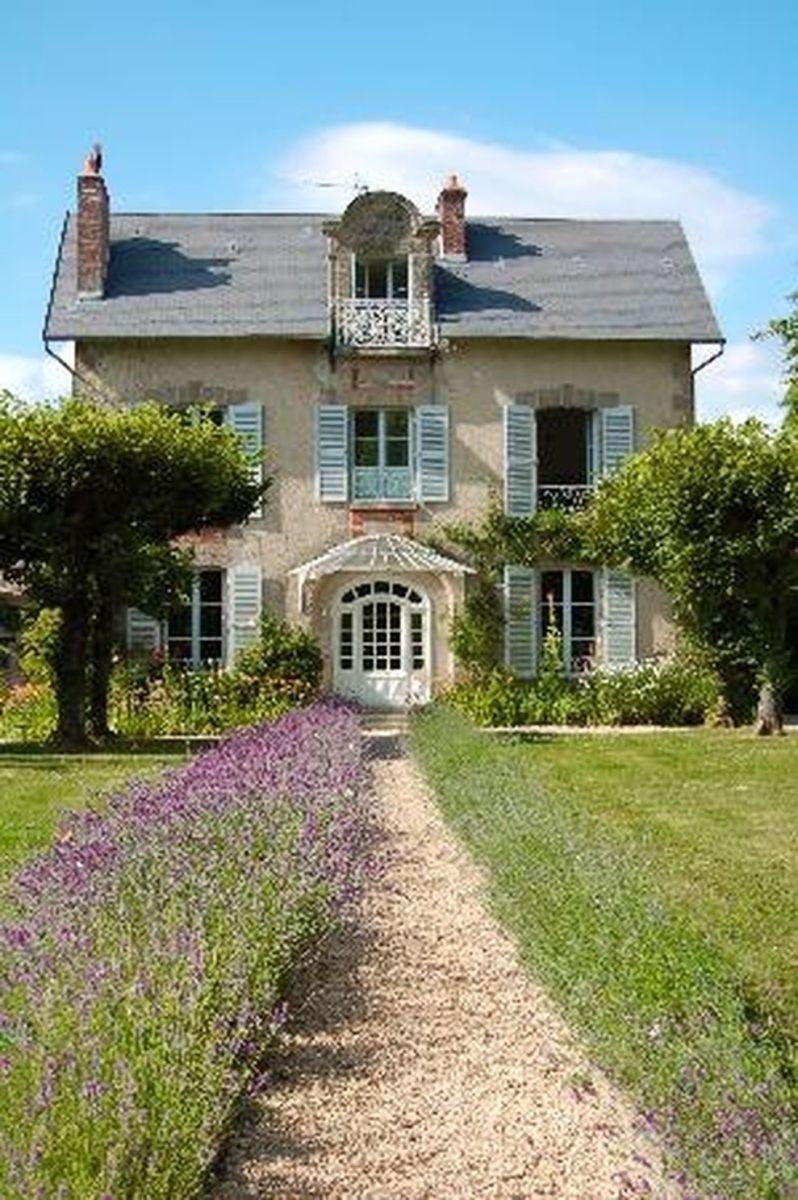 68 Beautiful French Cottage Garden Design Ideas - ROUNDECOR -  Beautiful french cottage garden design ideas 02  - #beautiful #containergardening #cottage #cottagegardens #design #englishgardens #french #garden #ideas #roundecor #smallgardens