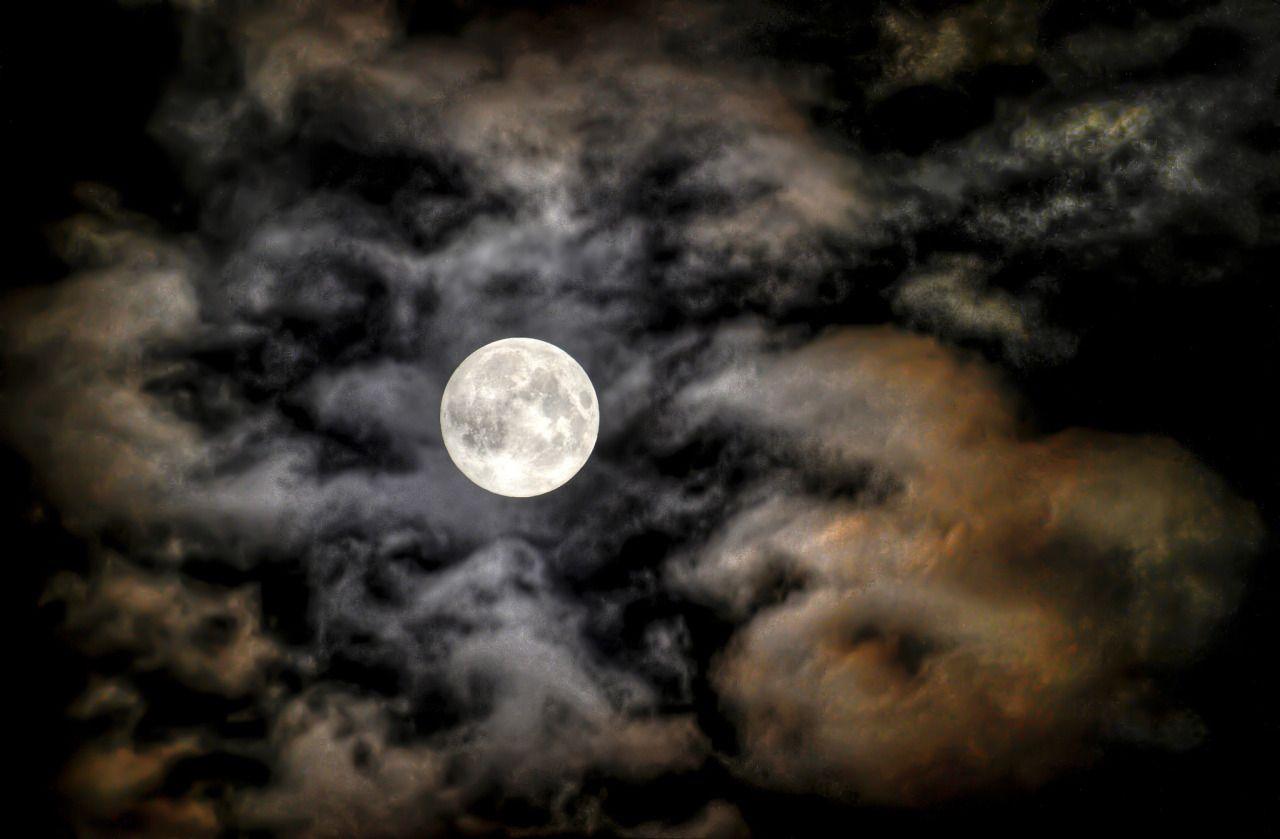 Willkommeningermany Harvest moon as seen from Weiden in der Oberpfalz Bayern Bavaria Southern