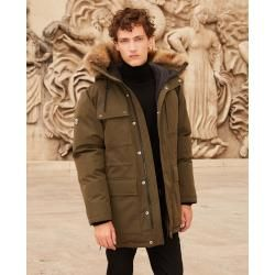 Photo of The Kooples – Khaki polyester parka with pockets – Damenthekooples.com