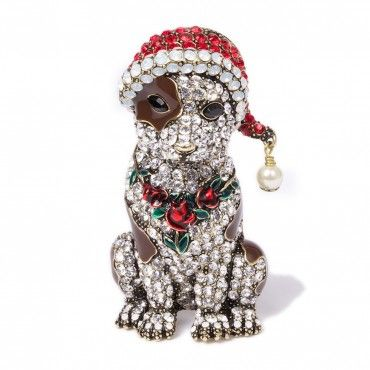 """Merry Maisey Christmas"" Crystal Pin - Christmas in July - Sale - Tuesday's Treasures 