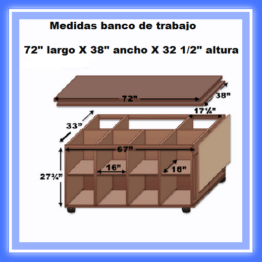Banco de trabajo de madera web del bricolaje diy dise o for Diseno de muebles de madera