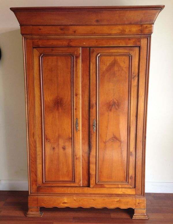 Antique French Louis Philippe Walnut Armoire Circa 1850   F013
