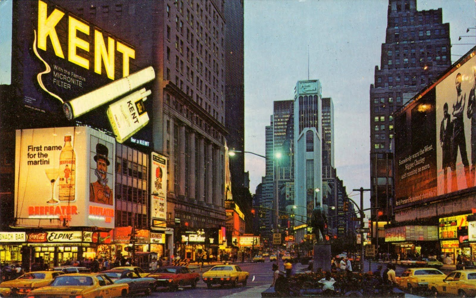 1960s nyc new york city time square at night 1960s vintage pictures new york city times. Black Bedroom Furniture Sets. Home Design Ideas