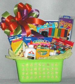 Creative Kids Gift Basket For Children Age 3 10 Kids Gift Baskets Creative Kids Gift Gifts For Kids