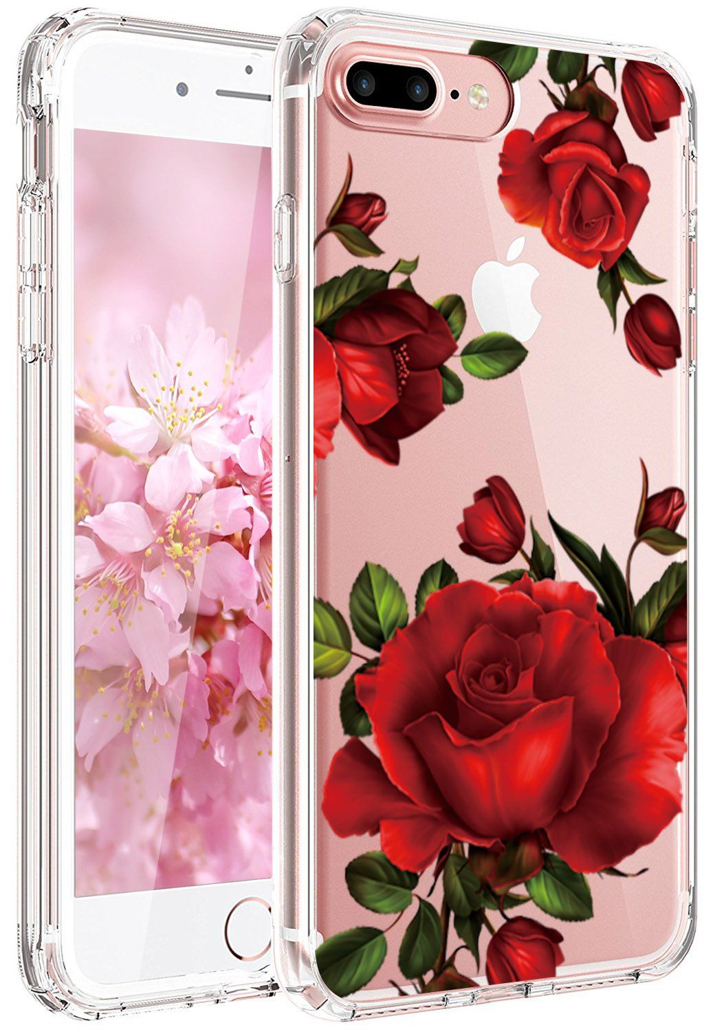 Iphone 7 Plus Case Iphone 8 Plus Case Jaholan Girls Floral Clear Tpu Soft Slim Flexible Silicone Cover Phone Floral Phone Case Floral Iphone Case Floral Iphone
