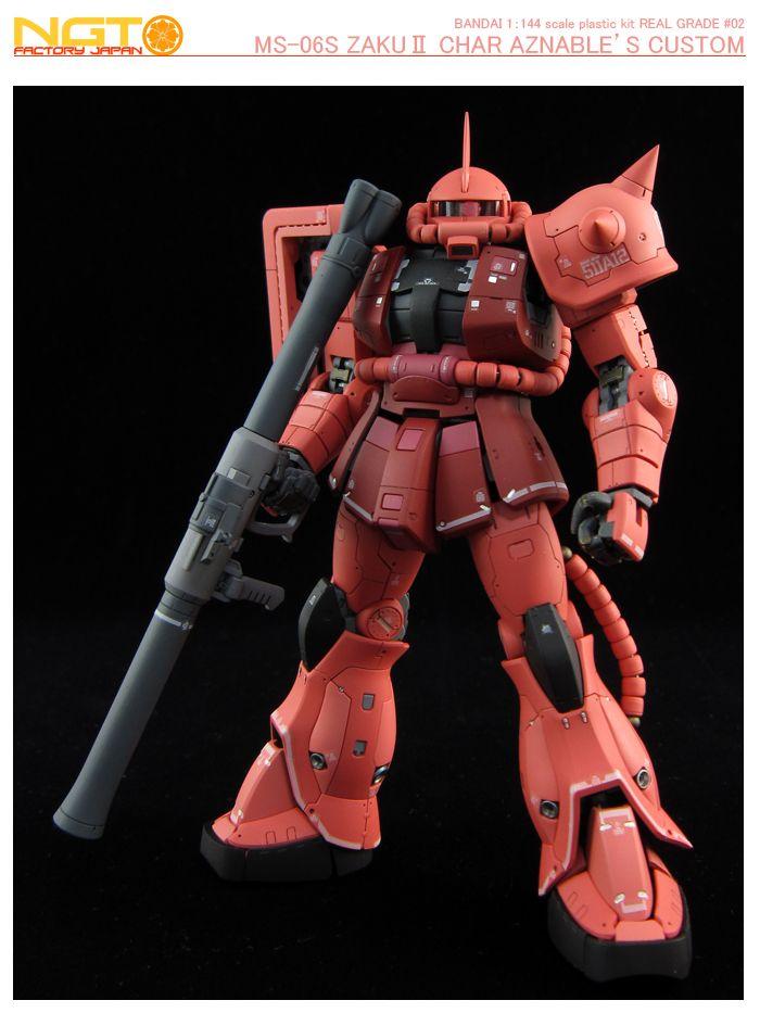 Ms-06S Char/'S Zaku Ii Gunpla Rg Real Grade Gundam 1//144 BANDAI