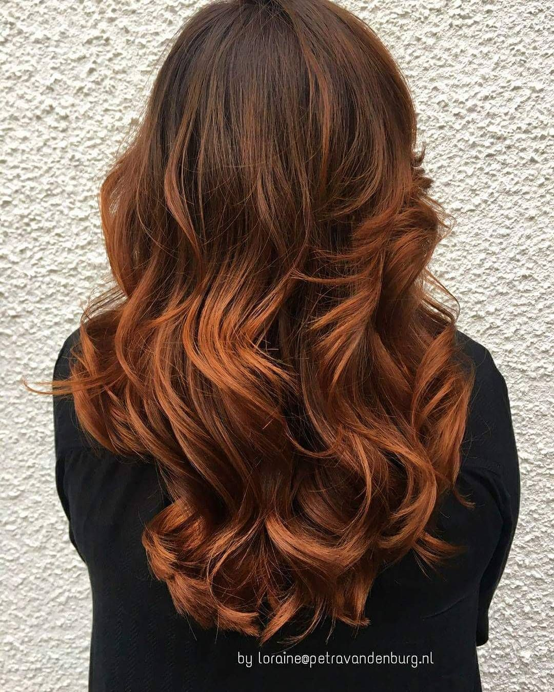 Tiger Eye Balayage Copper Hair Color Cool Hair Color Copper Balayage