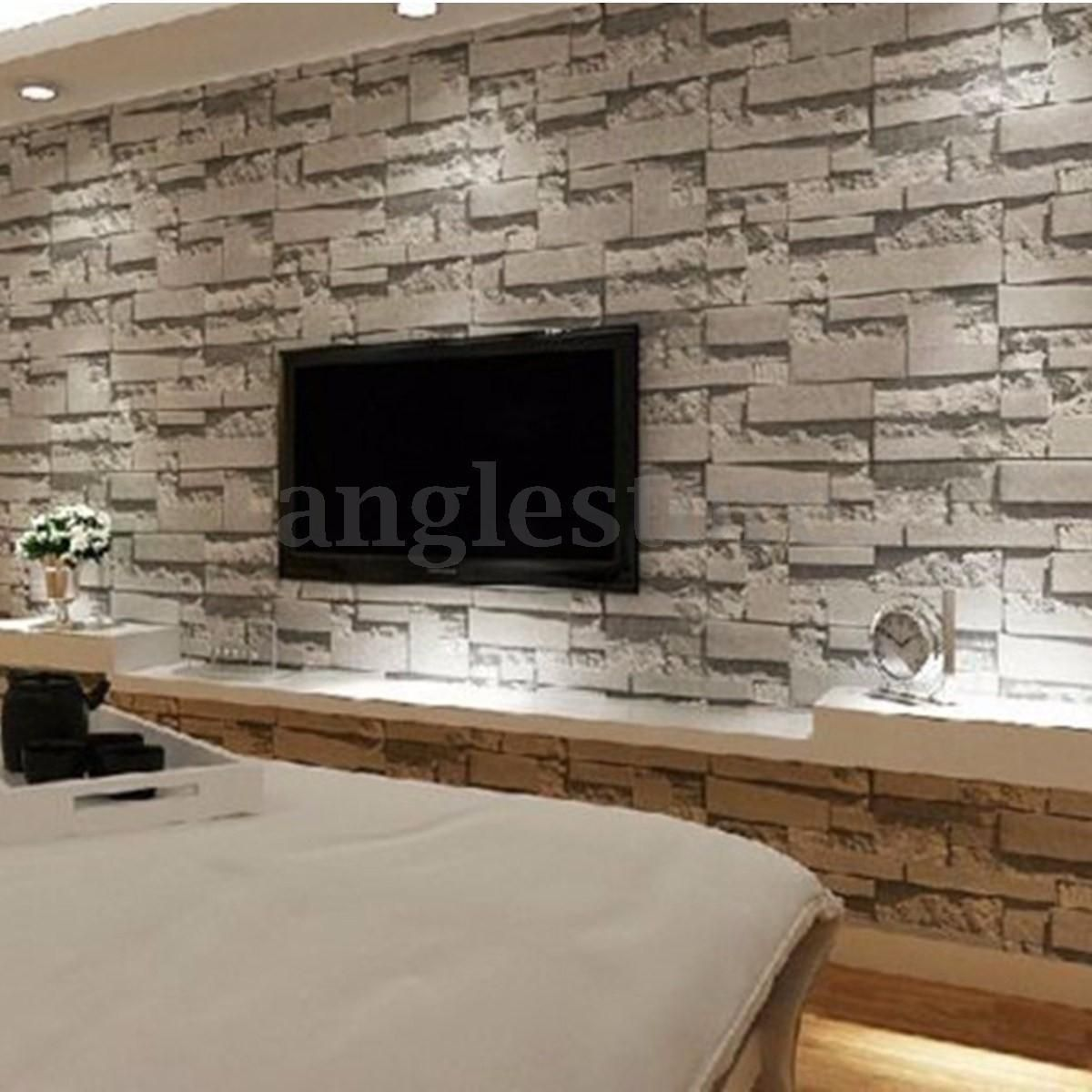 3d Wallpaper Bedroom Mural Modern Stone Brick Wall Paper Background Textured 10m Stone Wallpaper Brick Effect Wallpaper Brick Wallpaper Living Room