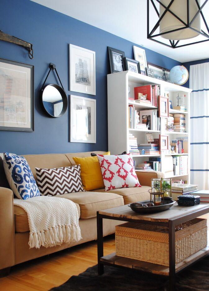 Excellent Benjamin Moore Vandeusen Blue And My New Living Room Color Home Remodeling Inspirations Genioncuboardxyz