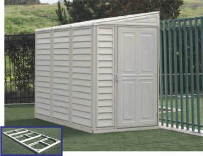 Duramax Sidemate Lean To Vinyl Storage Shed Building 4 X 8 With Floor