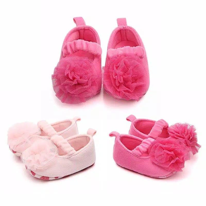 Sepatu Bayi Perempuan 0 18m Idr 46 000 Size Chart S 0 6m