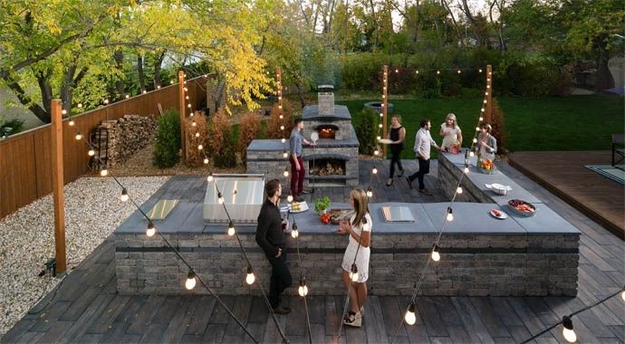 harvest grove outdoor kitchen pizza oven grill barkman barkman. Interior Design Ideas. Home Design Ideas