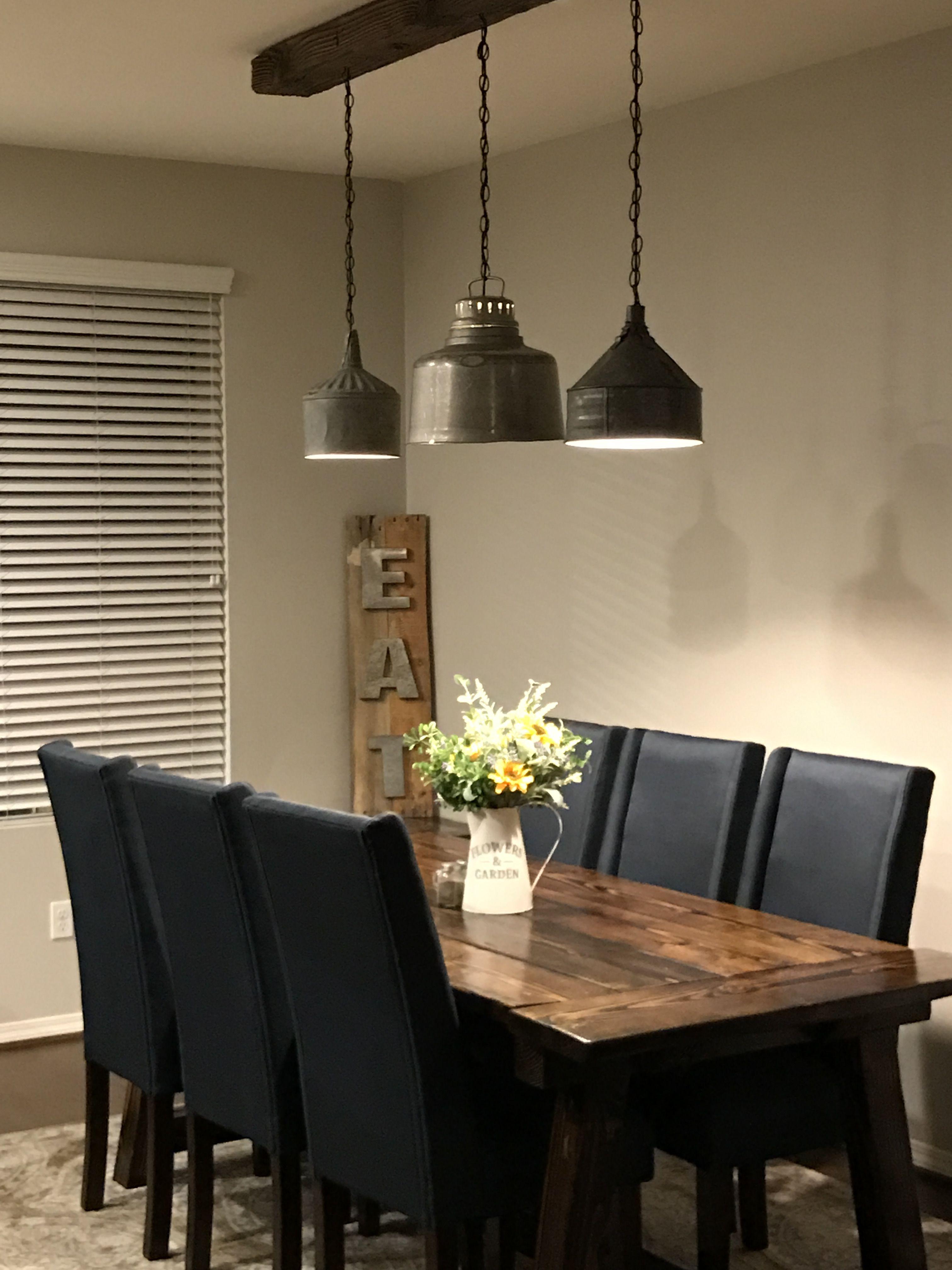 Rustic dining light farmhouse Dining lighting, Dining