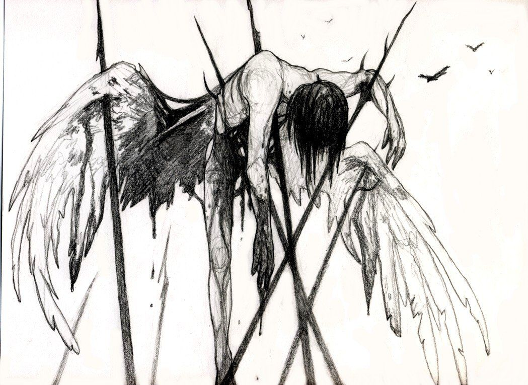 Падшие рисунки карандашом