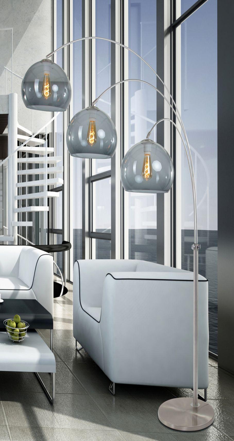 Design Wohnzimmer Stehlampe Steinhauer Gramineus Stehlampe