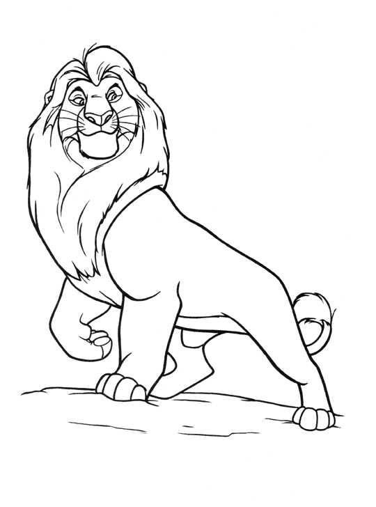 The Lion King Coloring Page Lion King Drawings