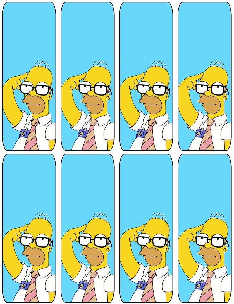 The simpsons homer bookmarks free to use and free - Simpson anniversaire ...