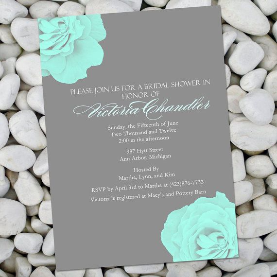 Red white and tiffany blue wedding invitations