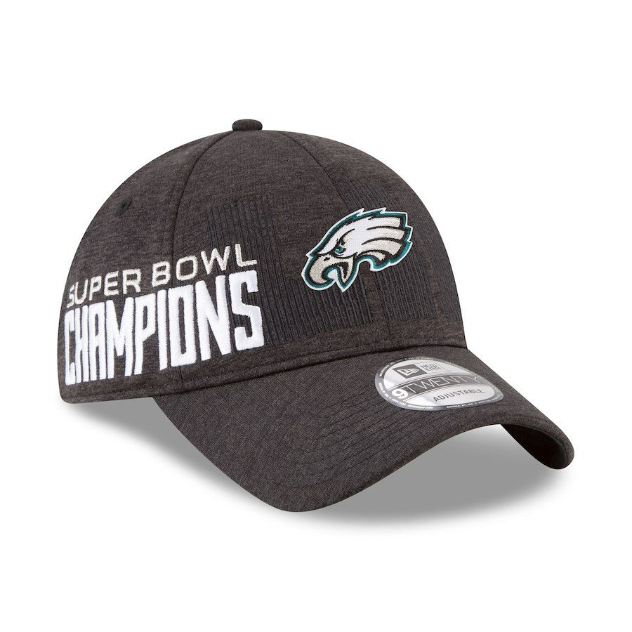 46dae1b568686f Philadelphia Eagles New Era Super Bowl LII Champions Parade 9TWENTY  Adjustable Hat – Heather Gray