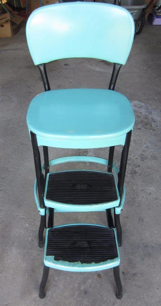 Details about Vintage Mid Century Retro Kitchen Chair Pull ...