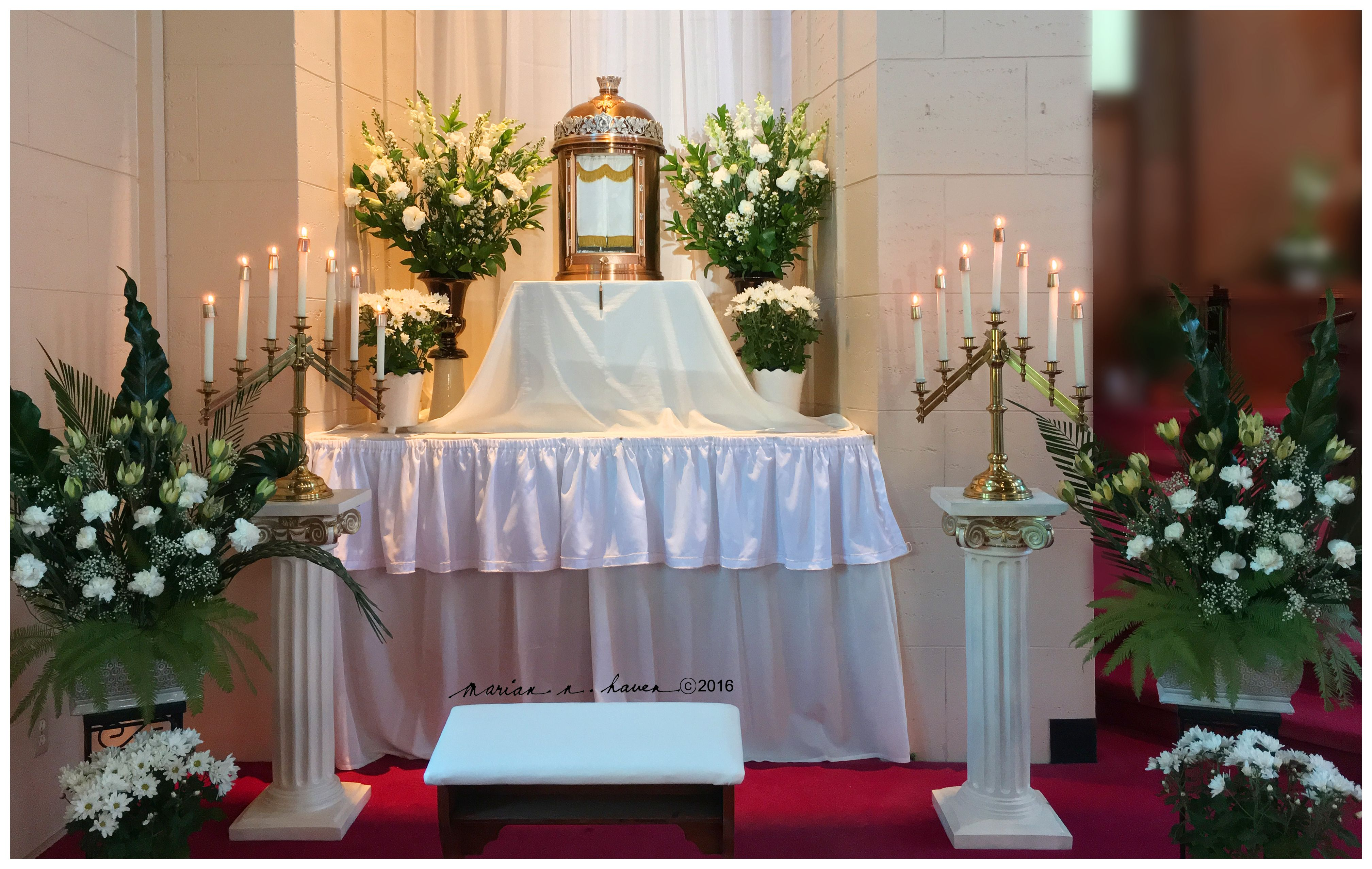 Wedding decoration ideas at church  My Altar of Repose Holy Thursday   Places to Visit  Pinterest