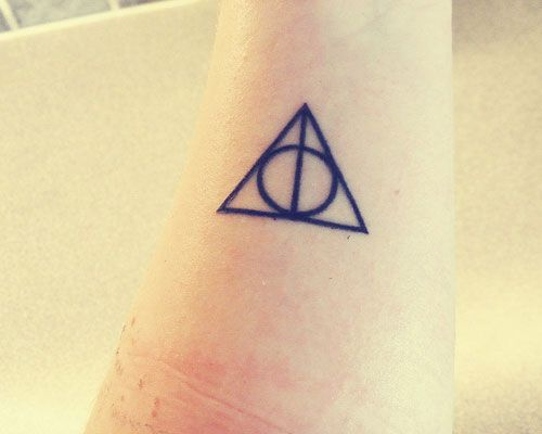 Deathly Hallows Tattoo Put Works On My Skin Pinterest Deathly
