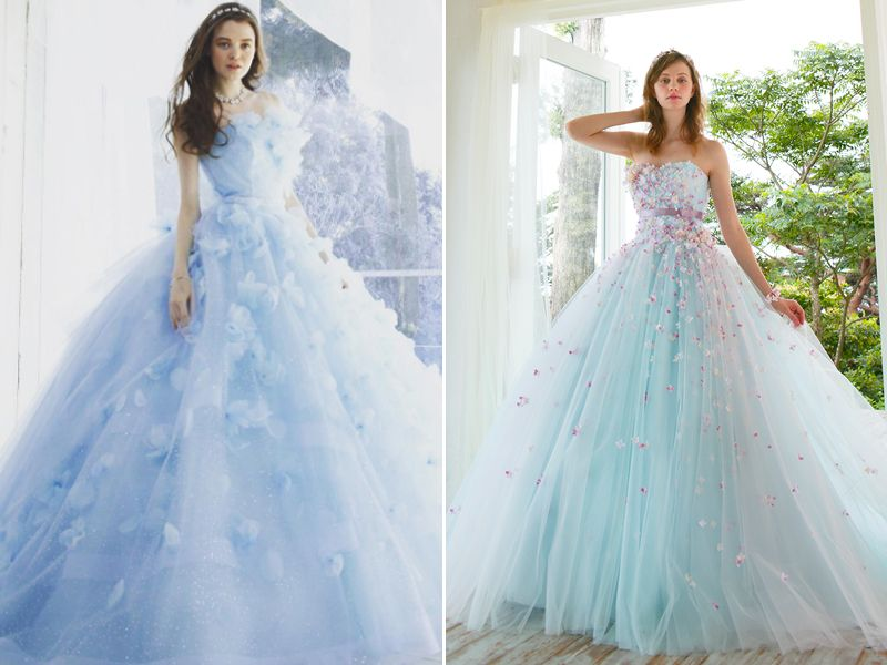 36 breathtaking ice queen inspired wedding dresses for for Ice blue wedding dress