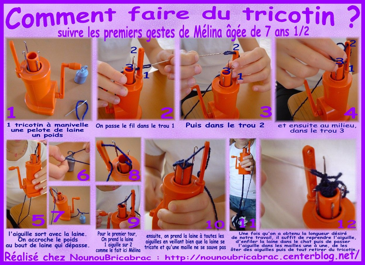 tricotin a manivelle mode d'emploi