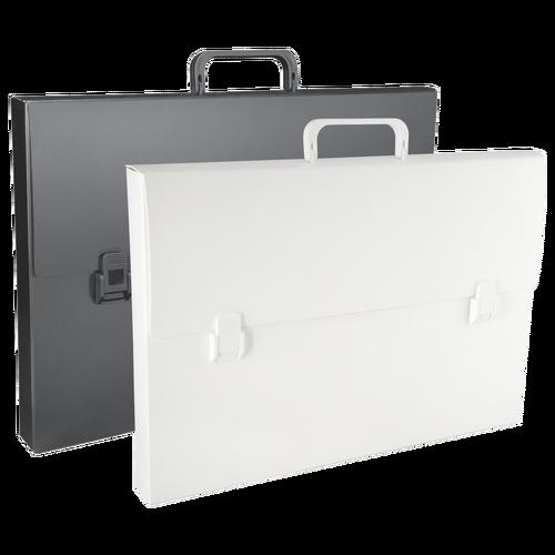 Portfolio Case Entrepreneurs Love The Lightweight Good Looks Of Our Economical Black Or White Poly Portfolio Case With A Briefca Portfolio Case Portfolio Case