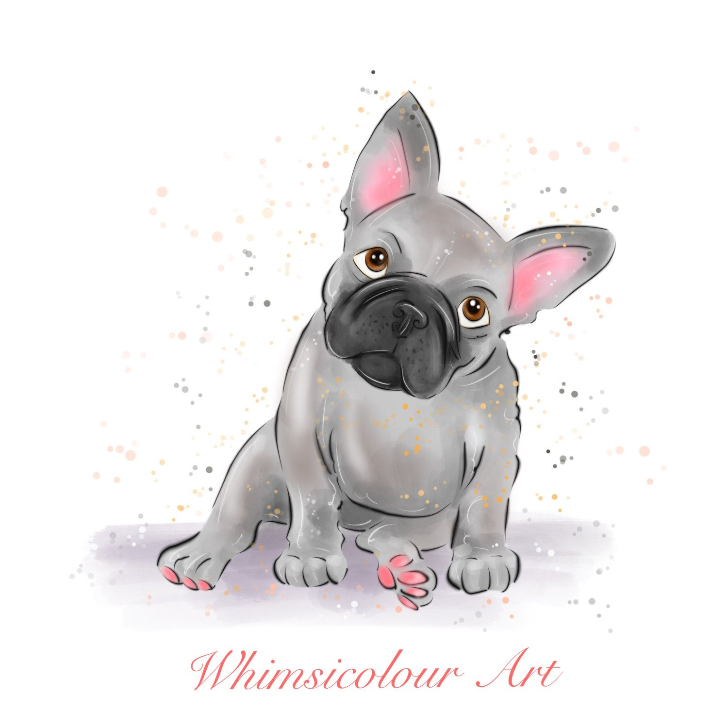 Bulldog Calm Courageous And Friendly French Bulldog Drawing