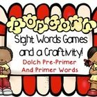 A fun way to consolidate learning on Dolch sight words! This pack contains the popcorn game, Write the room, Bingo and a craftivity!
