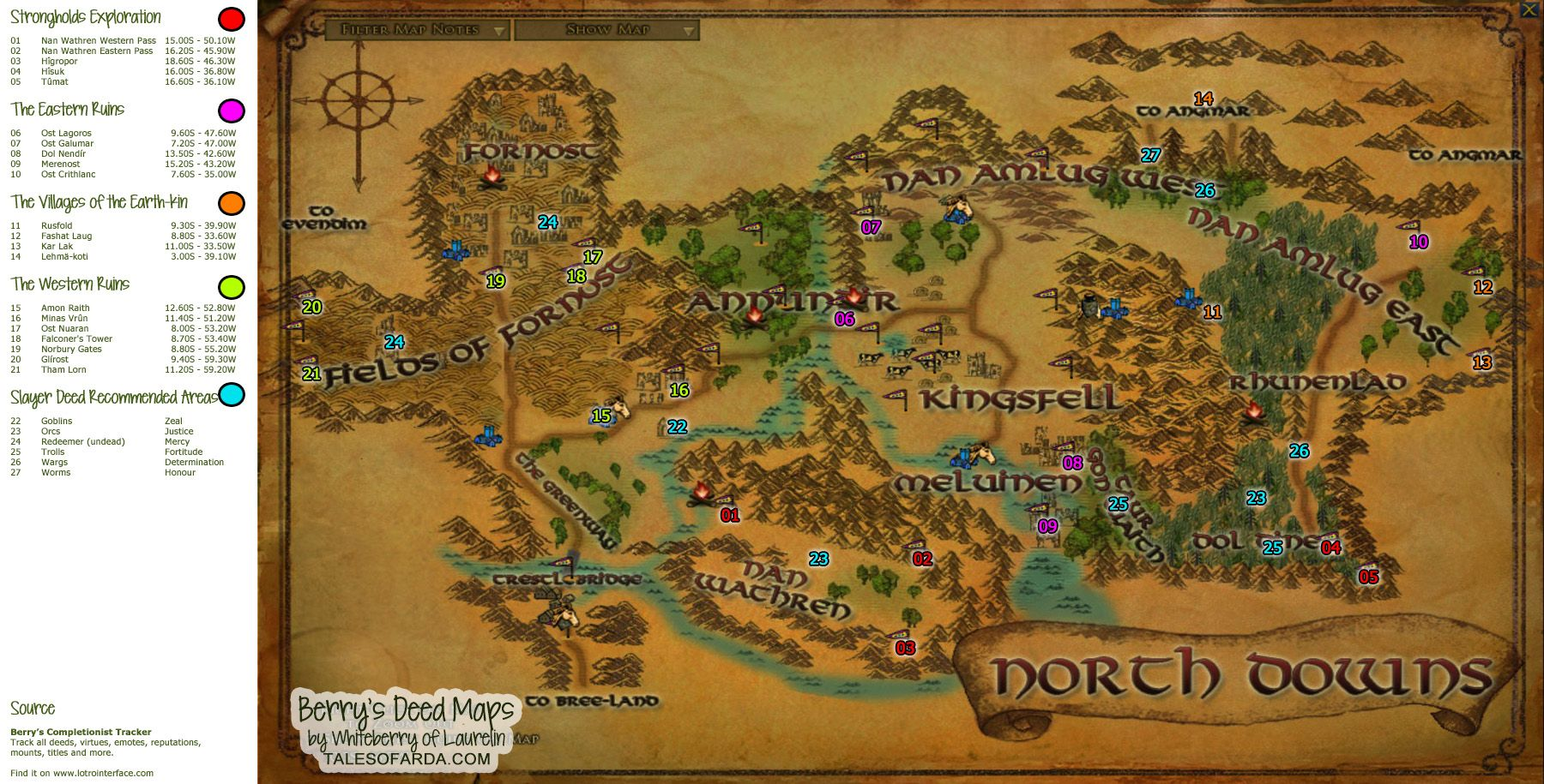 Lord Of The Rings Deeds Guide
