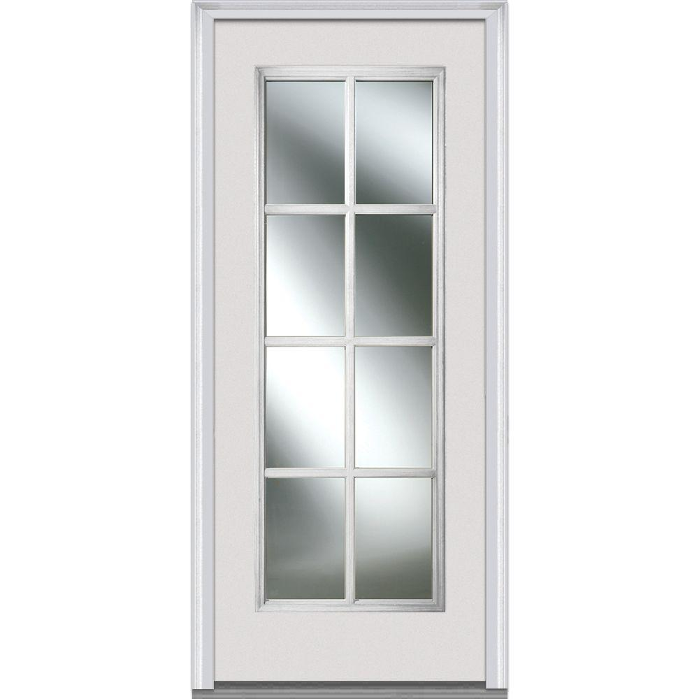Mmi door in x in simulated divided lites lefthand full lite