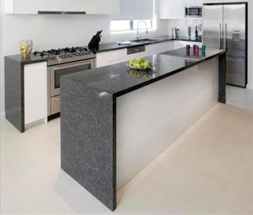 pictures of granite countertops in kitchens | steel grey granite