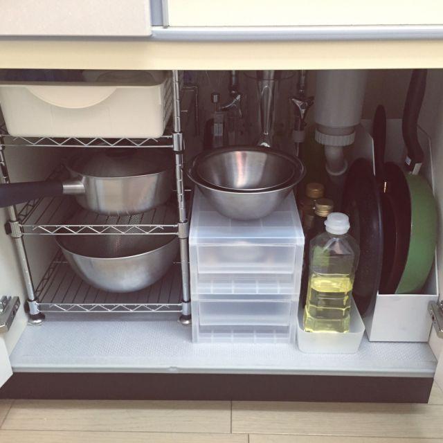 キッチン 1k 整理収納部 キッチン収納 一人暮らし などの