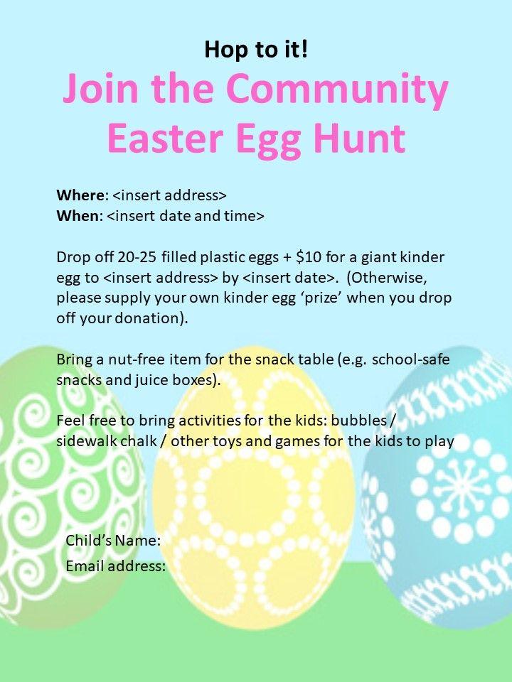How to Plan a Community Easter Egg Hunt   Egg hunt, Easter ...