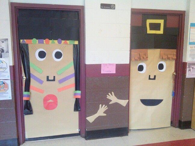November Classroom Decor ~ November thanksgiving classroom doors school ideas