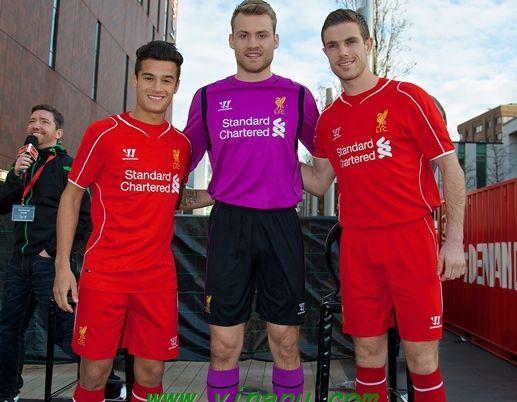 adea0b70e13 14/15 Liverpool home soccer jersey and goalkeeper jersey | Liverpool ...