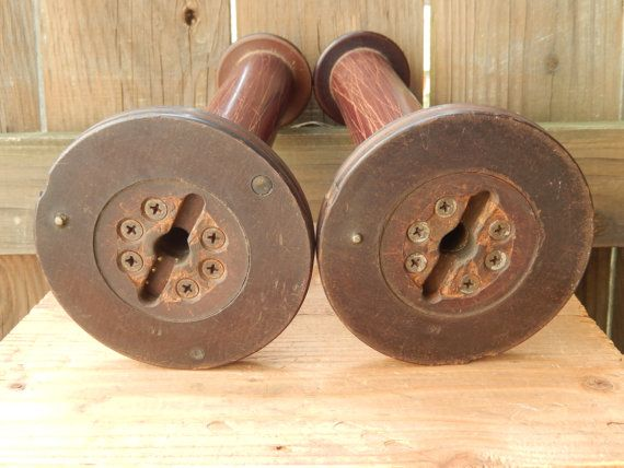 Vintage Industrial Spools Large Thread Spools By Pennsvintage