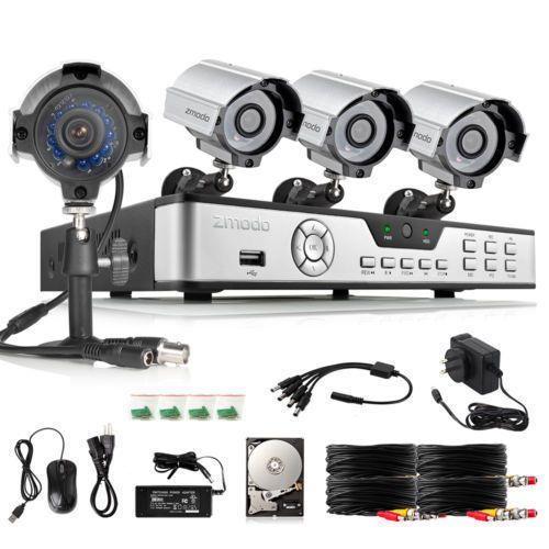Zmodo 8CH 960H HDMI DVR 700TVL Night Vision CCTV Security Camera System 500GB HD #Zmodo