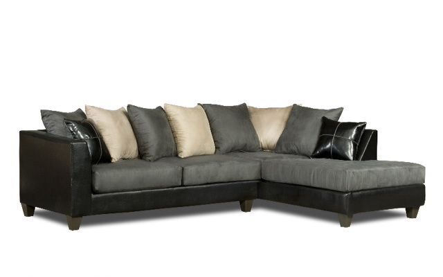 Modern Furniture Vegas monica gray microfiber sectional $699 @ cornerstone furniture in