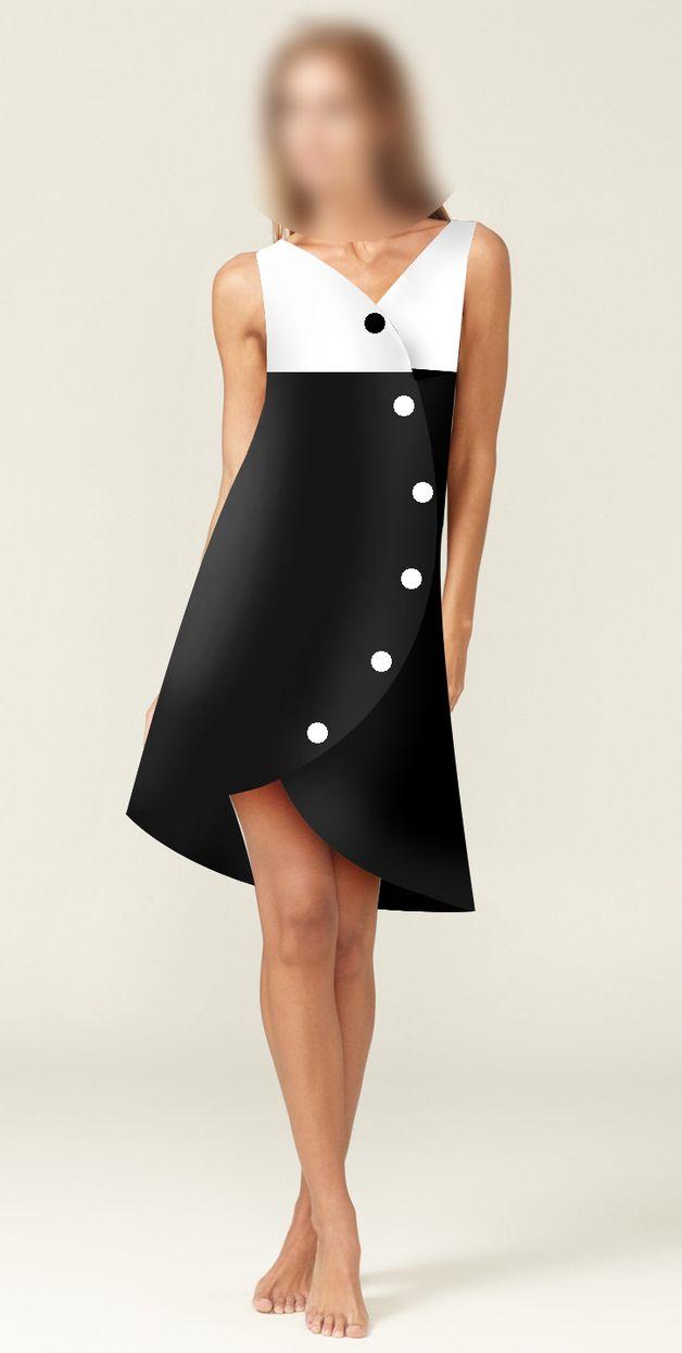 Robe Noir Et Blanc Asymetrique Robe Noire Et Blanche Confection De Vetements Robe Noire