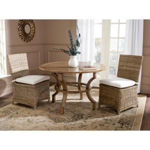 Safavieh Sebesi Natural Rattan Dining Chair (Set of 2)-FOX1600A-SET2 - The Home Depot